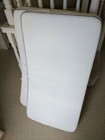 2 x John Lewis Pocket Spring Cot Mattress, 120 x 60cm. Used