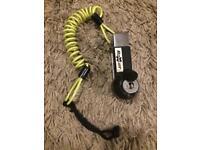Motorbike disc lock with brake leaver line