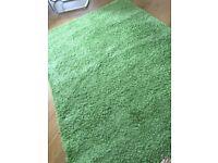 Green medium pile very good condition rug