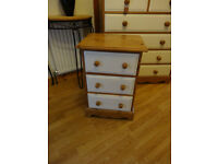 Quality handmade solid wood country pine bedside drawers