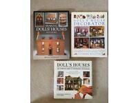 Dolls house builder and decorator 3 hardback book mini bundle. VGC