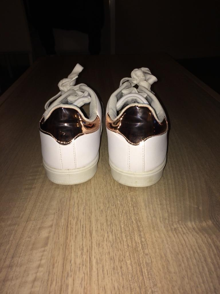 Misspap white trainers