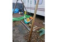 Soulet Wooden Climbing Frame ladder swings an climbi my bars