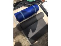 2 gym mats that roll up good condition