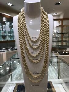 10kt Yellow Gold Rope Chain 5.5mm 18 inches