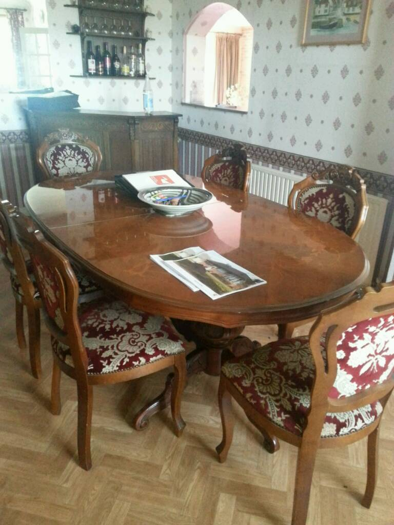Traditional table and chairs