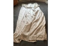 Large luxury ivory lined made to measure curtains - three pairs