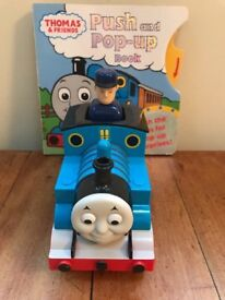 Thomas the Tank Engine push and go train and Pop Up book