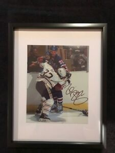 Buffalo sabres Rob Ray Signed and framed photo