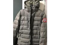 Canada goose grey padded quilted jacket
