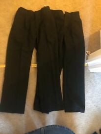 Boys Black School Trousers x2 Age 6/7