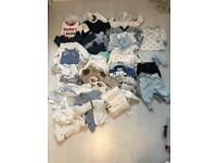 Baby boy newborn bundle of clothes