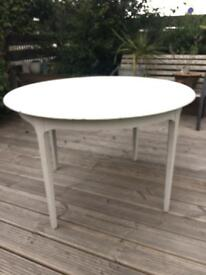 Chalk painted dining table