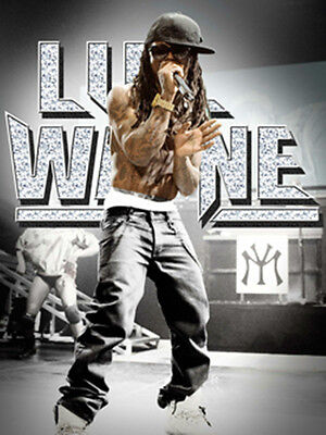 """LIL WAYNE """"LIVE"""" fabric Poster Oversized 30"""" X 40"""" Poster Flag NEW for sale  Shipping to India"""