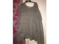 Newlook grey zip jumper