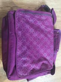 Large Purple Allerand Nappy Bag