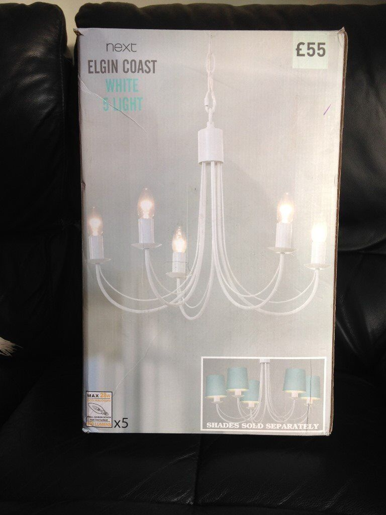 Brand new boxed five armed ceiling light