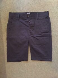 Topman Skinny Chino Navy Blue Shorts