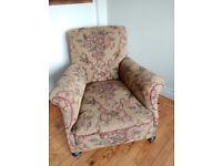 Vintage armchair, Howard style c1900