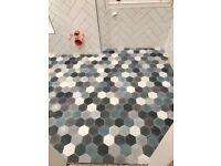 Popham Design Hexagonal Concrete Floor Tiles – Moroccan Berber Mixed Colours