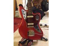 Squier (Fender) Vintage Modified Jaguar Electric Guitar - Upgrades