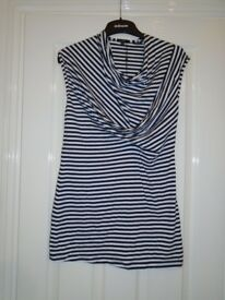 NWT LADIES WOMENS LONG SLEEVELESS COTTON TOP STRETCH SIZE 14