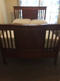 Mahogany Queen size bed with mattress
