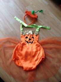 Baby pumpkin tutu dress 1-2 years