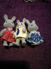 Sylvanian Families Grey Rabbits x