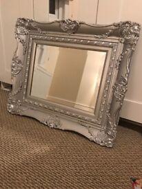 Silver Ornate Mirror!