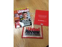Manchester United Football Programme - limited edition - collectors item