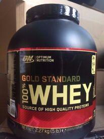OPTIMUM NUTRITION GOLD STANDARD 100% WHEY PROTEIN POWDER -2.27 KG ** RANGE OF FLAVOURS AVAIL *
