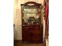 Genuine Italian Glass Cabinet with Coffee Table and Triple Table Set *QUICK SALE*