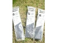 x3 Packs Gutter Guard (5 Metre Packs) New.