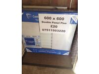 CENTRAL HEATING RADIATOR CENTERRAD Double Plus 600 mm high x 600 mm long.