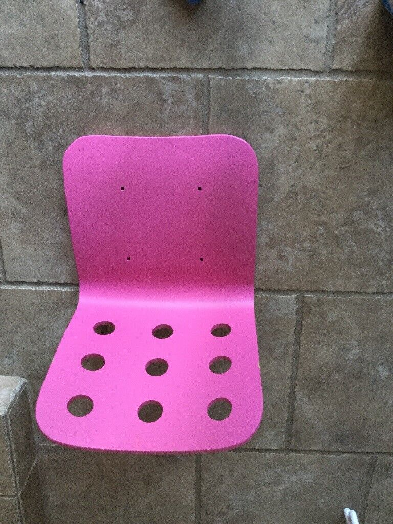 IKEA children's chair, seat only pink, Jules