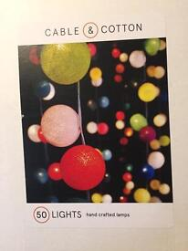 Cable and cotton pink and white lights