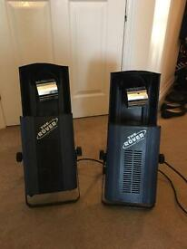 "2x acme ""the rover"" disco lights in a case"