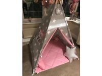 Fun with Mum Teepee tent with Floor Mat (BEEN USED ONCE)