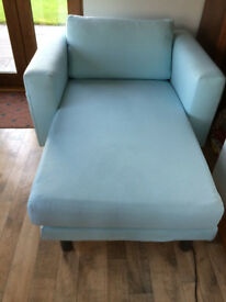 Sofa / Chaise Longue Ikea Norsburg Pale Blue