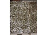Habitat 'Glamour' beige long pile rug