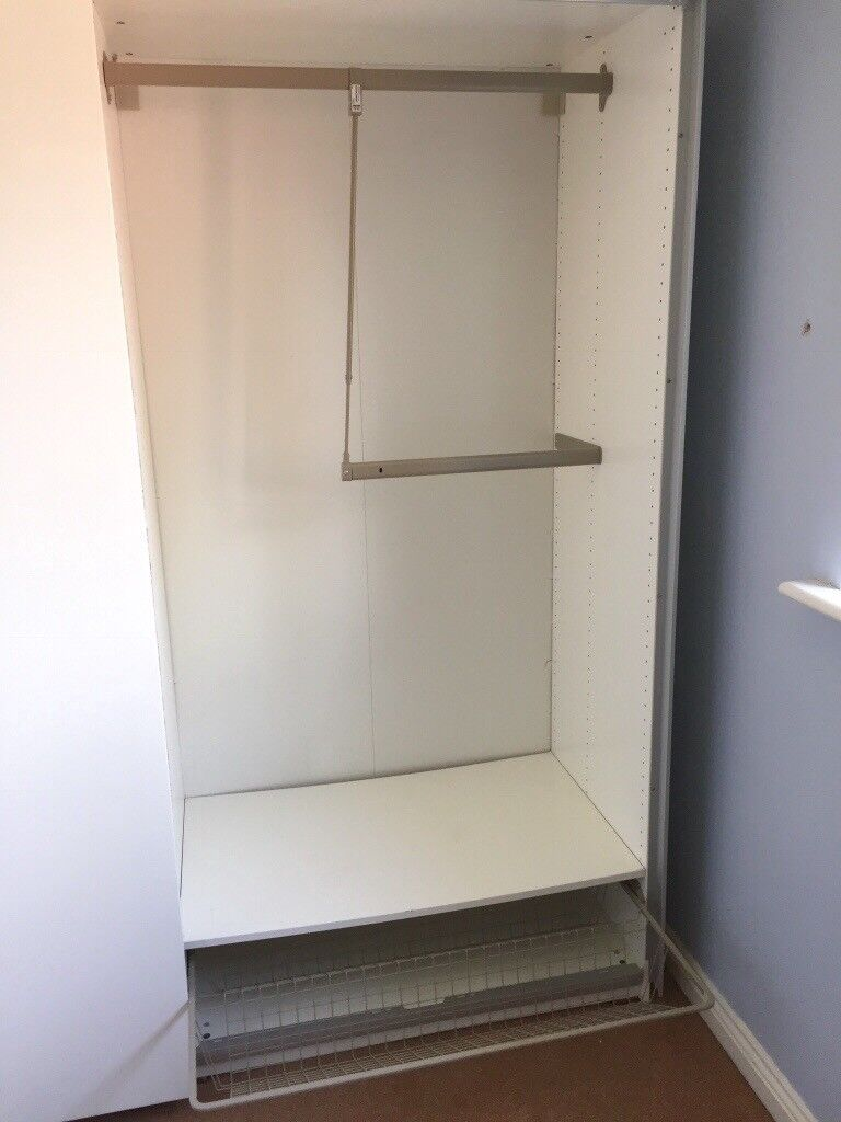 Ikea Pax Wardrobes Two Doubles With High Gloss Sliding Doors