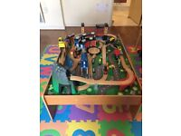 Mountain Rock Train Table - Good condition with all parts