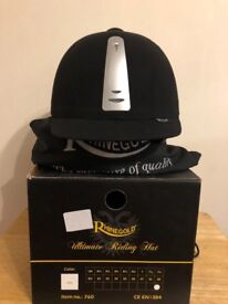 Rhinegold ultimate riding hat - size 7 & 1/4, black