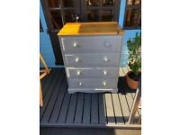 Painted pine drawers