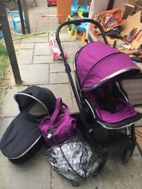 Oyster max buggy & pram purple pack