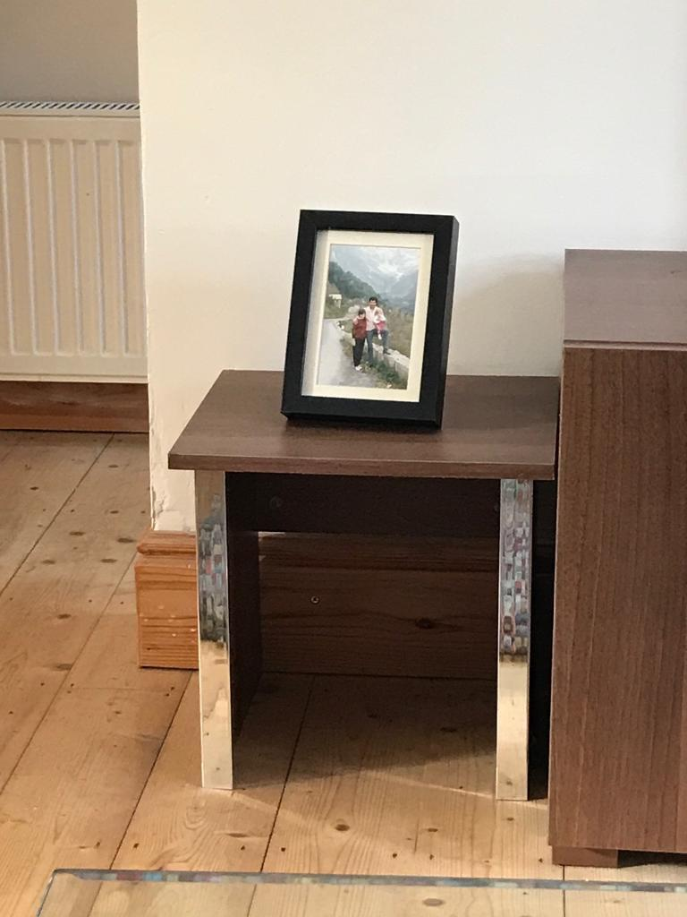 Pair of nested side tables
