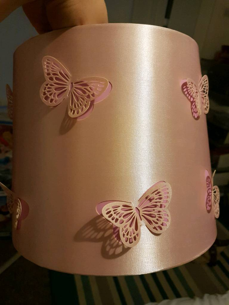 Baby pink butterfly lampshade