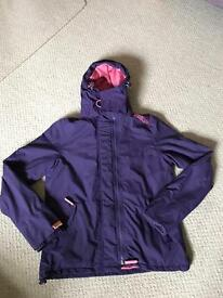 Purple/pink Superdry windcheater jacket L