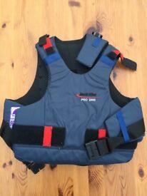 Jack Ellis Pro 2000 Horse Riding Childs Back Protector Brace Support Size 26